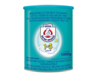NESTLE BEAR BRAND Junior Powdered Milk Supplement for 1-3 years old, 1kg Tin Can Price Philippines