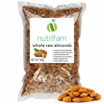 Nutrifam US Whole Raw Almonds 500g