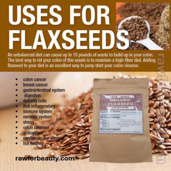 Organic & Raw Whole Flaxseed 100g