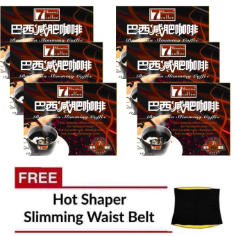 Original 7Day Slimming Brazilian Coffee (Set of 6) with FREEHotshaper Slimming Belt
