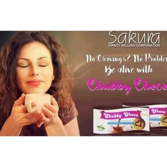 (Pack of 4) Be Active Skinny Sakura Chubby Choco Instant Cocoa Drink Mix for Weight Gain 15g (5 sachets)