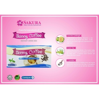 (Pack of 6) Fat Blocker Sakura Skinny Coffee w/ L-Carnitine,Garcinia Cambogia & Green Tea Extract 15g - 3