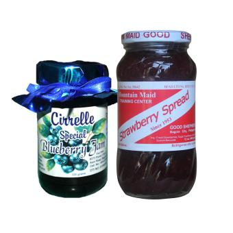 Premium Blueberry Jam 8oz Bundled with Good Shepherd StrawberrySpread