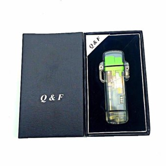 QF-265 Windproof Lighter with box (green)