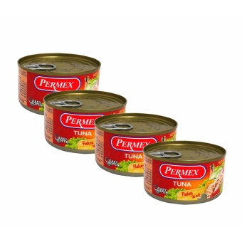 Red Permex Tuna Flakes & Oil, Easy Open Can, Hot & Spicy184g 4's 100220 w51