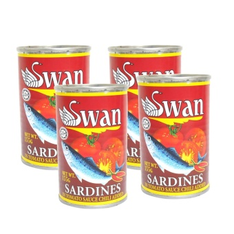 Red Swan Sardines in Tomato Sauce Chili Added 155g 4's 622029 w50