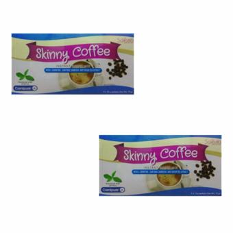 Skinny Slimming Coffee Sakura a with l-carnitine, garcinia cambogiaand green tea extract bundle of 2