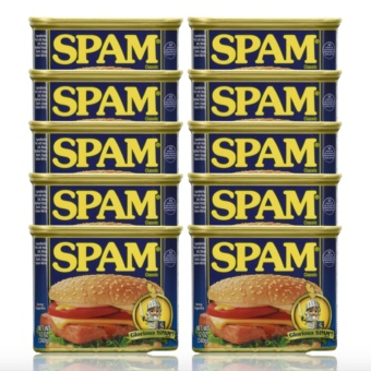 Spam Classic 340g Set of 10 with FREE Flawless Papaya Soap