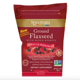 Spectrum Ground Flaxseed with Mixed Berries 340g