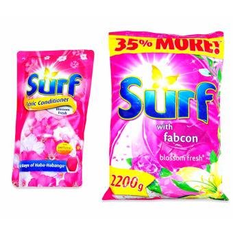 Surf Fabric Cond. Blossom Fresh 800ml / Surf Powder Blossom Fresh2200g 181688 2's