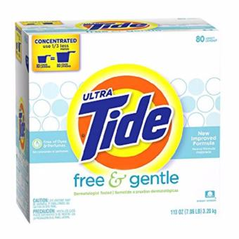 Tide Ultra Free & Gentle Powder Laundry Detergent, 80 Loads, 113 Oz