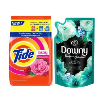 Tide with Freshness of Downy Garden Bloom Laundry Detergent 850g with Downy Fusion Parfum Collection Concentrate Fabric Conditioner 800ml