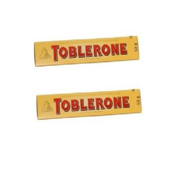 Toblerone Milk Chocolate with Honey and Almond 50g - Set of 2
