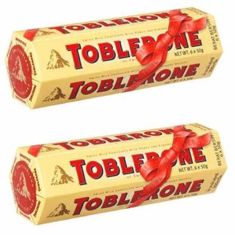 Toblerone Milk Chocolate with Honey and Almond (6x50g) Set of 2