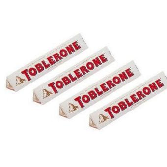 Toblerone White Chocolate with Honey and Almond 50g- Set of 4