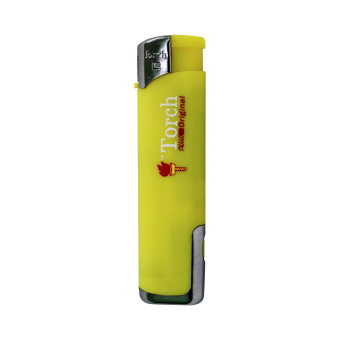 Torch Lighter with Flashlight -Yellow
