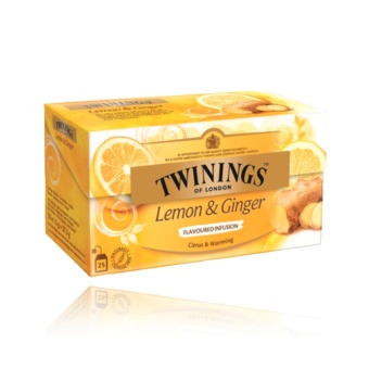 Twinings of London Lemon and Ginger, 25 tea bags