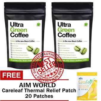 Ultra Green Coffee Sets of 2 with FREE Aim Global Careleaf Thermal Relief Patch