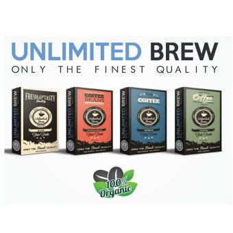 Unlimited Brew Coffee Beans Package 4-piece Set (Ground CoffeeBeans)