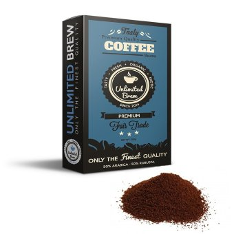 Unlimited Brew Premium Ground Coffee Beans (Blue)