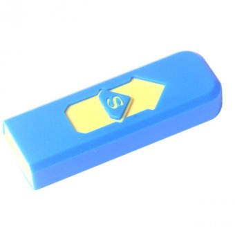 USB Electronic Rechargeable Flameless Lighter (Blue)
