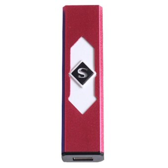 USB Rechargeable Flameless Cigar Cigarette Electronic Lighter (Red/White)