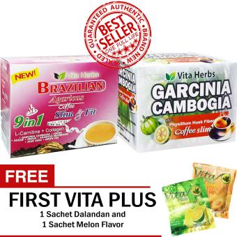 Vita Herbs Brazilian Coffee (1 Box) and Vita Herbs Garcinia Cambogia (1 Box) FREE First Vita Plus Sachets
