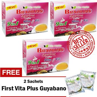 Vita Herbs Brazilian Coffee (3 Boxes) FREE 2 Sachets First Vita Plus Guyabano
