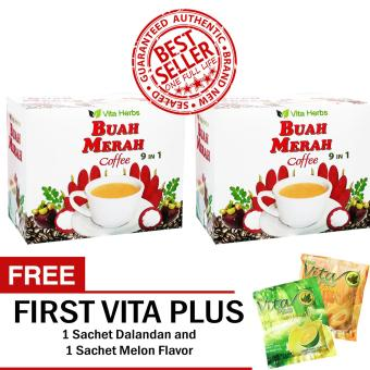Vita Herbs Buah Merah 9 in 1 Coffee (2 Boxes) FREE First Vita Plus Sachets