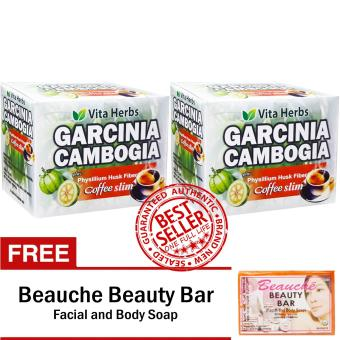 Vita Herbs Garcinia Cambogia Coffee Slim (2 Boxes) with FREE Beauche Beauty Bar