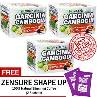 Vita Herbs Garcinia Cambogia Coffee Slim (3 Boxes) FREE Shape Up Slimming Coffee