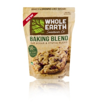 Whole Earth Sweetener Co. Baking Blend Raw Sugar and Stevia Blend(680g) with FREE Gingerbon Ginger Sweets Regular 20g