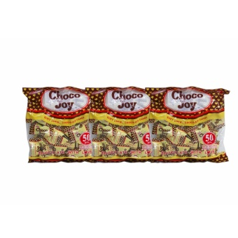 Yellow/Brown Colombia's Choco Joy Soft Chewy Chocolate Candy 50pcs165g 3's 808098 w51 (MP)