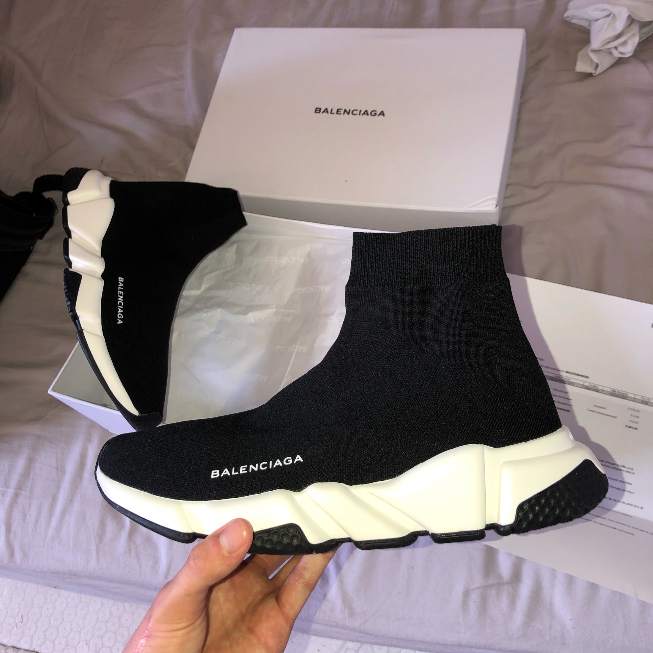 lowest price classic style new authentic BALENCIAGA SPEED TRAINER ORIGINAL_ MEN / WOMENS OEM FREE SOCKS ...