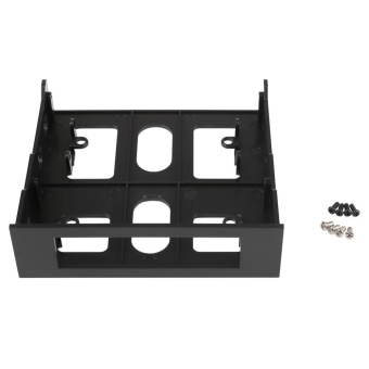 0 shipping fee 3.5'' to 5.25'' Drive Bay Computer Case Adapter Mounting Bracket USB Hub Floppy - intl - 2