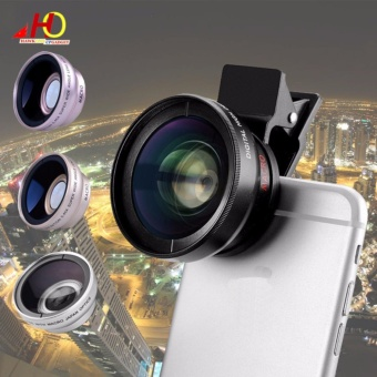 0.45X Super Wide Angle + Macro Lens Mobile Phone Lens 37mm 0.45x49UV (Black)