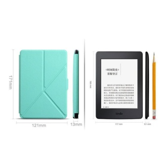 1 Pc/lot Origami Stand Magnetic PU leather case cover folio casefor Amazon New Kindle Paperwhite 1/2/3 Multi-color - intl - 2