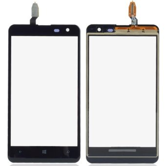 1 Piece Black Outer Glass Panel Touch Screen Digitizer ReplacementPart For Nokia Lumia 625 4.7 Inch B0335 P0.25 - intl