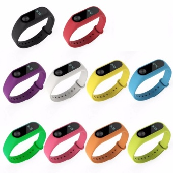 10 pcs Silicone Replacement Watchband Watch Band Strap for Xiaomi Mi Band 2 Smart Bracelet
