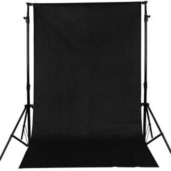 10 x 5FT Photography Background Non-woven Fabrics Backdrops (Black)