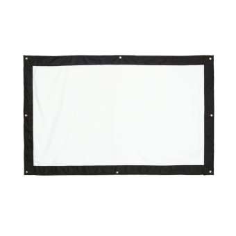 100 Inch 16:9 Indoor Outdoor Film Theater Movie Projection ScreenCurtain Projector Matte (White) - intl