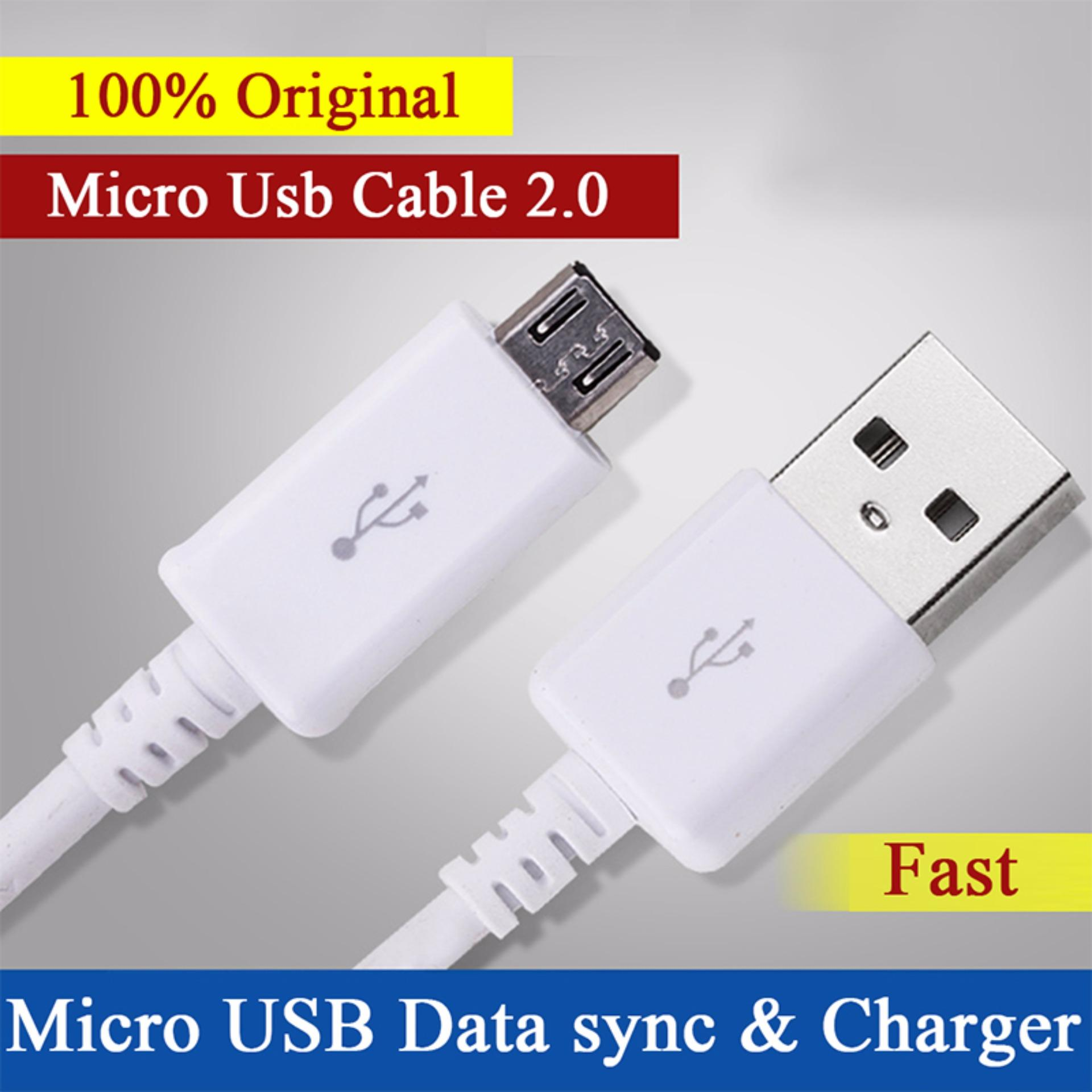 Philippines 100 Original Micro Usb Cable Fast Charger 12m For Travel Xiaomi 2ampere Samsung Galaxys4 S6 S7 Note