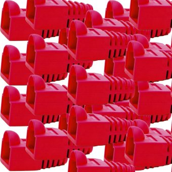 100 Pieces RJ45 Rubber Boots (Red)