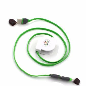 100cm 2-in-1 USB Stretch Safe Charge Speed & Data Cable foriphone and Android Phone (YellowGreen) - 3
