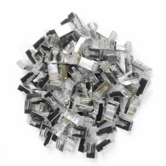 100pcs RJ45 Cat5e STP Metal Network Connectors Plug Terminals forEthernet Cable Price Philippines