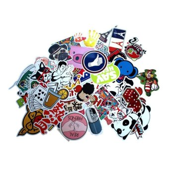 100pcs Waterproof Laptop Motorcycle Skateboard Luggage GraffitiBumper Stickers (Type H - Random Patterns) - intl