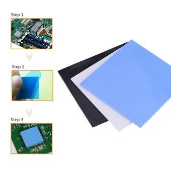 100x100x2mm CPU Thermal Pad Heatsink Cooling Conductive SiliconePads Blue - intl - 2