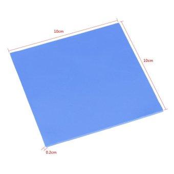 100x100x2mm CPU Thermal Pad Heatsink Cooling Conductive SiliconePads Blue - intl - 4