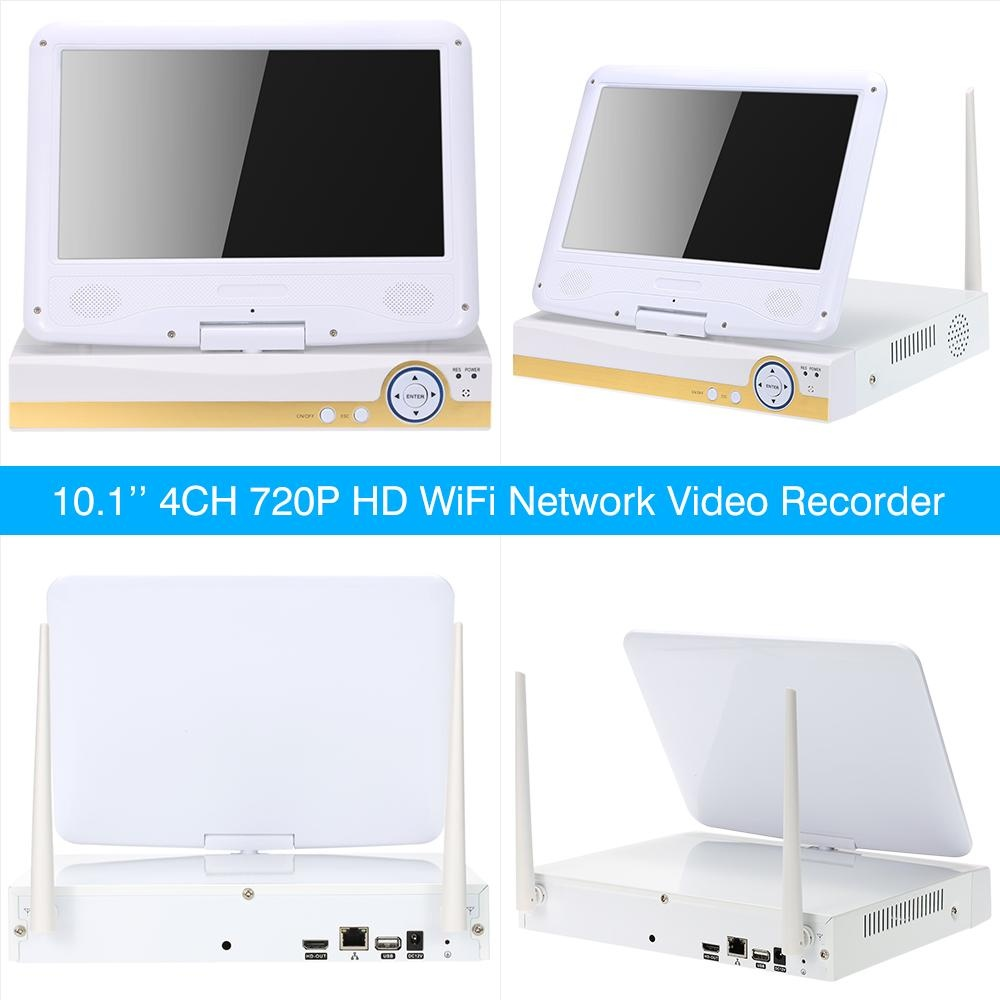 Philippines   10 1'' 4CH 720P HD WiFi NVR Kit with 4pcs 1 0MP