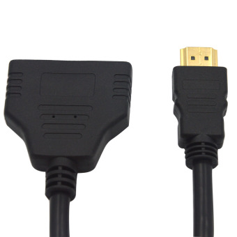 1080P 1 HDMI Male to 2 HDMI Female Splitter Cable Adapter Converter for HDTV Tablet XBOX